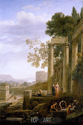 The Burial of Saint Seraphia, c.1639/40 | Claude Lorrain | Gemälde Reproduktion