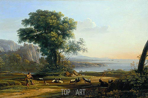 Pastoral Landscape (Sunset), c.1645/50 | Claude Lorrain | Painting Reproduction
