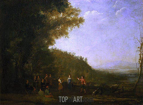 Rustic Dance, 1637 | Claude Lorrain| Painting Reproduction