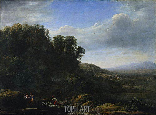 Italian Landscape, c.1630 | Claude Lorrain| Painting Reproduction