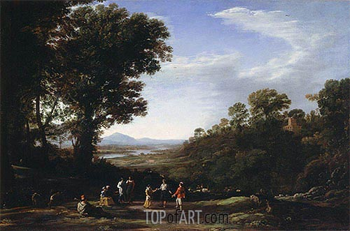 Villagers Dancing, c.1635/40 | Claude Lorrain | Painting Reproduction
