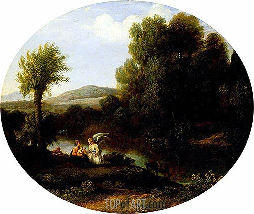 Claude Lorrain | Rest on the Flight into Egypt, undated