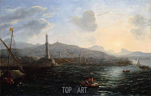 The Port of Genoa, c.1627/29 | Claude Lorrain | Gemälde Reproduktion