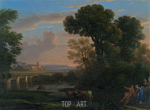 Pastoral Landscape, 1648 | Claude Lorrain | Painting Reproduction