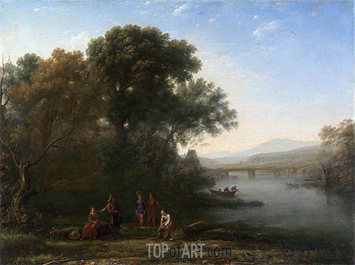 The Ford, c.1636 | Claude Lorrain| Gemälde Reproduktion