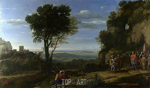 Landscape with David at the Cave of Adullam, 1658 | Claude Lorrain| Painting Reproduction