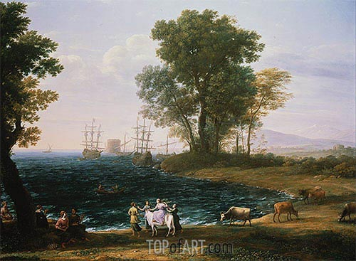 Coast Scene with the Rape of Europa, 1667 | Claude Lorrain| Painting Reproduction