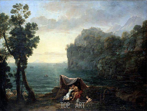 Landscape with Acis and Galatea, 1657 | Claude Lorrain | Gemälde Reproduktion