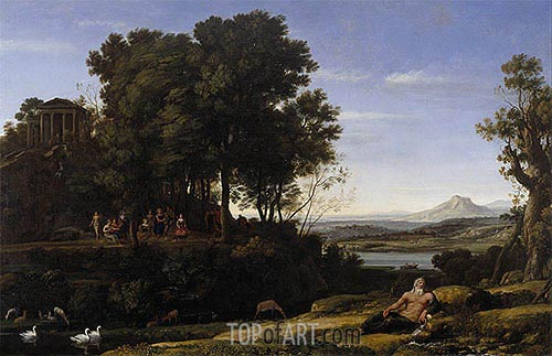 Landscape with Apollo and the Muses, 1652 | Claude Lorrain| Painting Reproduction