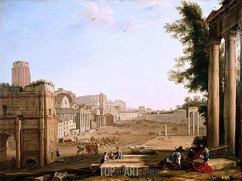 The Campo Vaccino, Rome, c.1640/45 | Claude Lorrain | Gemälde Reproduktion