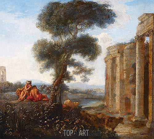 Mercury and Argus, undated | Claude Lorrain | Painting Reproduction