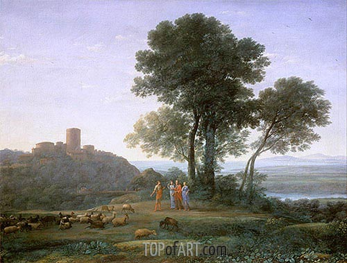 Jacob with Laban and his Daughters, 1676 | Claude Lorrain| Gemälde Reproduktion
