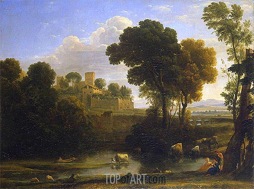 Italian Landscape, 1648 | Claude Lorrain | Painting Reproduction