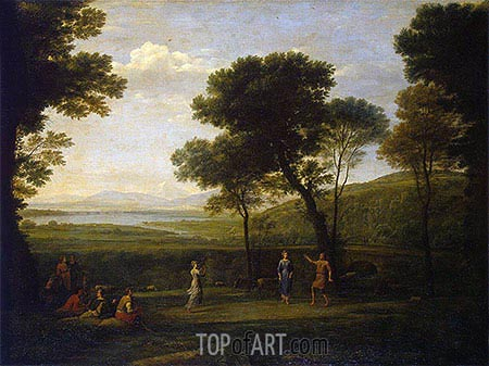 Landscape with Dancing Figures, 1669 | Claude Lorrain | Gemälde Reproduktion