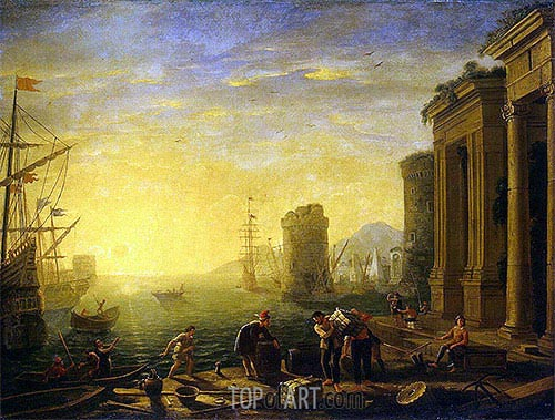 Morning in the Harbour, c.1635/40 | Claude Lorrain| Painting Reproduction