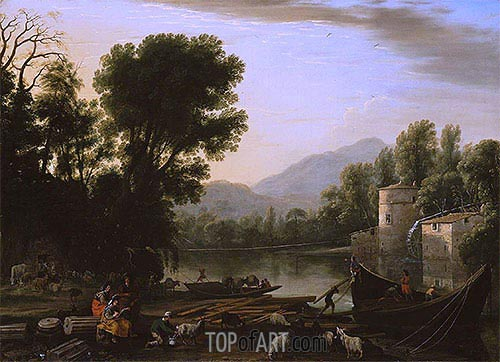 Mill on a River, 1631 | Claude Lorrain | Painting Reproduction