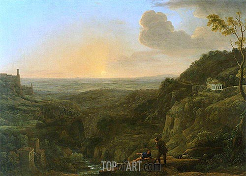 A View of the Campagna from Tivoli, c.1644/45 | Claude Lorrain | Gemälde Reproduktion