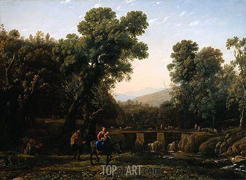 The Flight Into Egypt, c.1635 | Claude Lorrain| Painting Reproduction