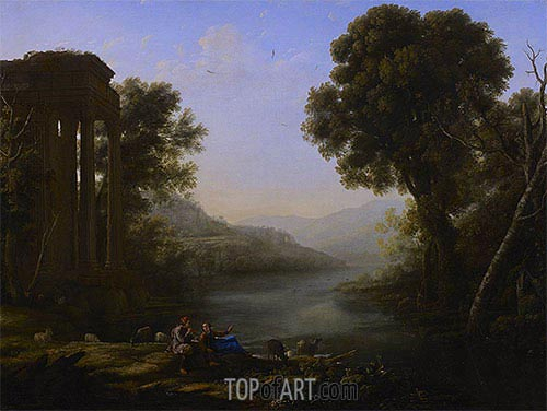 Pastoral Landscape, 1638 | Claude Lorrain| Painting Reproduction