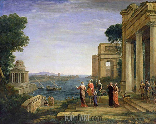 Aeneas and Dido in Carthage, 1675 | Claude Lorrain| Painting Reproduction