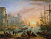 Sea Port at Sunset | Claude Lorrain