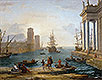 Seaport, Effects of Fog (Embarkation of Ulysses) | Claude Lorrain