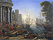 Seaport with the Embarkation of Saint Ursula | Claude Lorrain