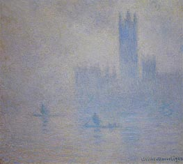 Houses of Parliament, Fog Effect | Monet | Painting Reproduction