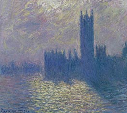 Houses of Parliament, Stormy Sky, 1904 by Monet | Painting Reproduction