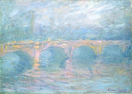 Waterloo-Brücke, London, bei Sonnenuntergang | Monet | veraltet