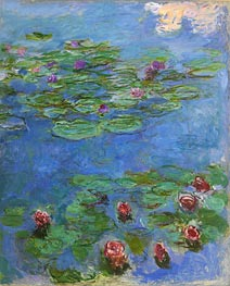 Water Lilies, c.1914/17 by Monet | Painting Reproduction