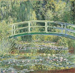 Water Lily Pond and Japanese Bridge | Monet | outdated