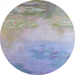 Water Lilies, Nympheas, 1907 von Monet | Gemälde-Reproduktion