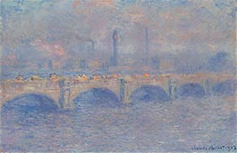 Waterloo Bridge, Sunlight Effect, 1903 von Monet | Gemälde-Reproduktion