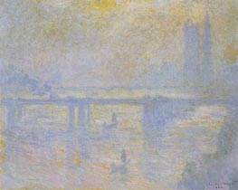 Charing Cross Bridge, 1902 von Monet | Gemälde-Reproduktion