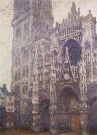 Rouen Cathedral, Tour d'Albane, Grey Weather, 1894 von Monet | Gemälde-Reproduktion
