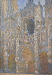 The Portal of Rouen Cathedral at Midday, 1894 by Monet | Painting Reproduction