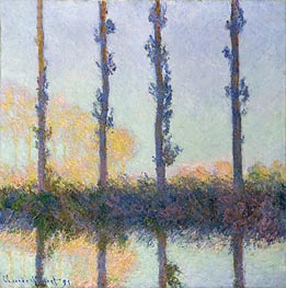 The Four Trees, Poplars, 1891 by Monet | Painting Reproduction