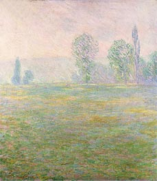 Meadows at Giverny | Monet | Gemälde Reproduktion