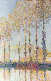 Poplars on the Bank of the Epte River, 1891 by Monet | Painting Reproduction