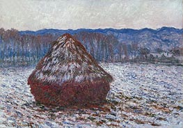 Stack of Wheat, 1891 by Monet | Painting Reproduction