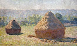 The Haystacks or The End of the Summer at Giverny, 1891 by Monet | Painting Reproduction