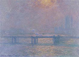 The Thames at Charing Cross, 1903 by Monet | Painting Reproduction