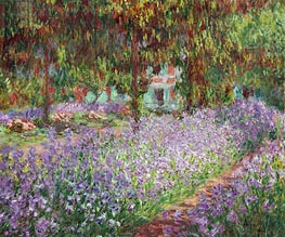 Irises in Monet's Garden at Giverny | Monet | Painting Reproduction