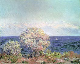 Cap d'Antibes, Mistral Wind, 1888 by Monet | Painting Reproduction