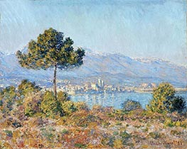 Antibes Seen from the Plateau Notre Dame, 1888 by Monet | Painting Reproduction