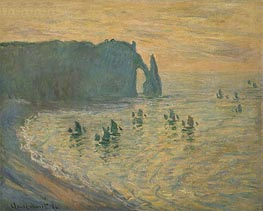 The Rocks, Etretat | Monet | Gemälde Reproduktion