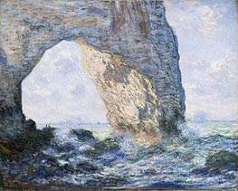 The Manneporte, Etretat, 1883 by Monet | Painting Reproduction
