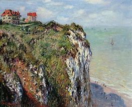 The Cliff at Dieppe, 1882 by Monet | Painting Reproduction