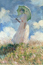 Woman with a Parasol Facing Left | Monet | veraltet